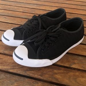 Converse Jack Purcell black sneakers size 7.5